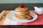 Strawberry Banana Pancakes by {milkandcerealblog.wordpress.com}